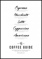 Coffee Guide Plakat