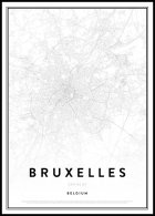 Map of Bruxelles Plakat