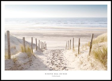 North Sea Dunes Plakat