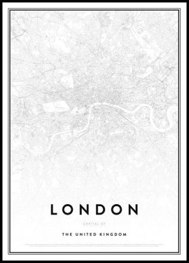 London Kort Plakat