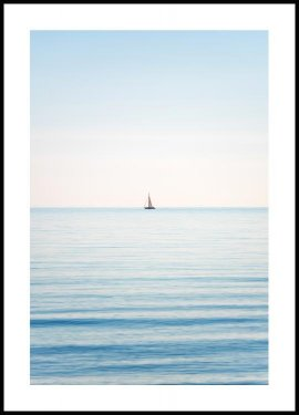 Horizon sailboat Plakat