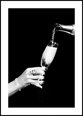 A Glass of Champagne Plakat
