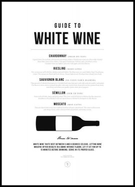 Guide to White Wine Plakat