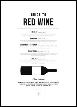 Guide to Red Wine Plakat