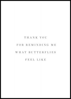 Butterflies feel Poster
