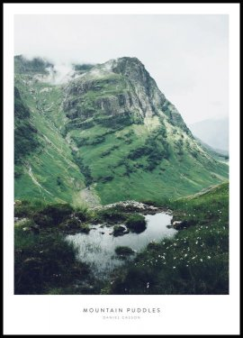 Mountain Puddles Plakat