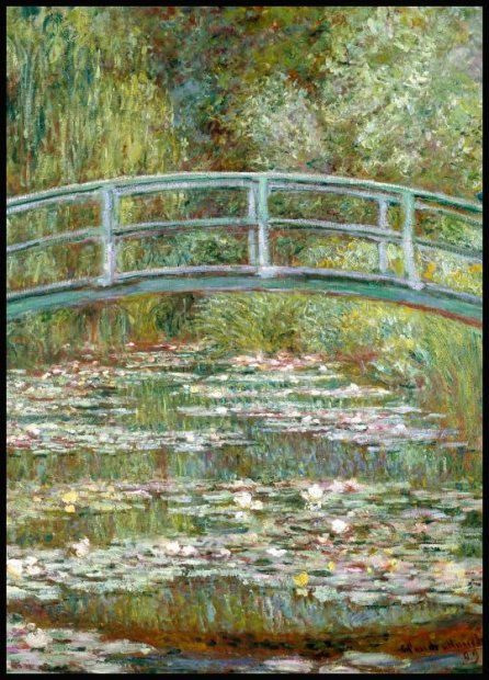 Claude Monet Bridge Over a Pond Plakat