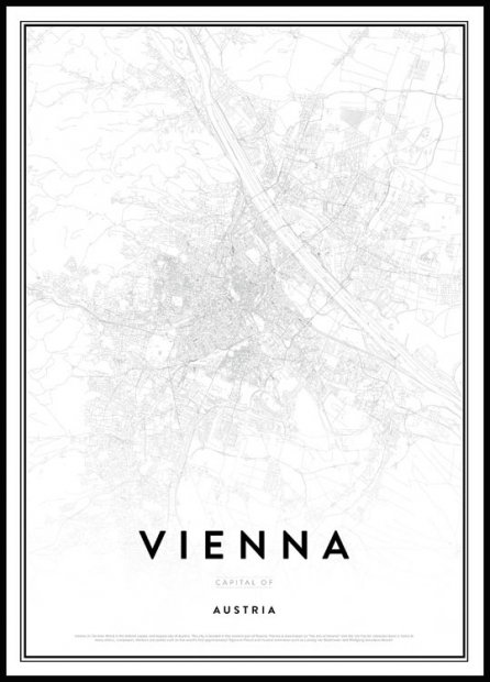Map of Vienna Plakat