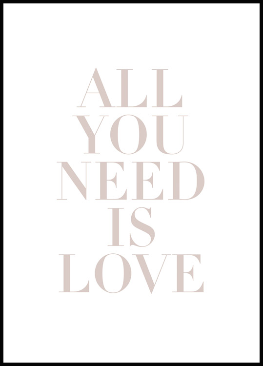 All You Need is Love Plakat