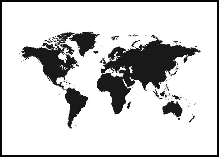 World Map Plakat
