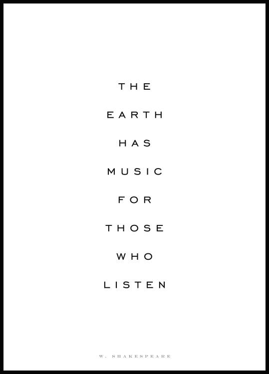 The Earth Has Music Plakat