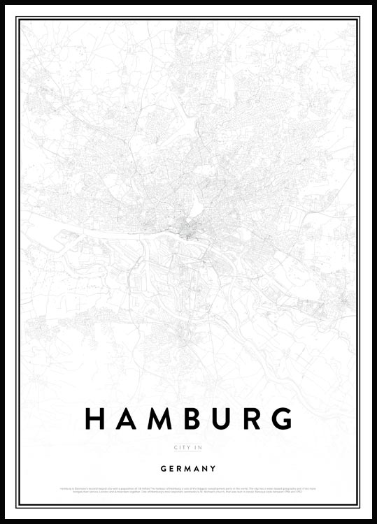 Map of Hamburg Plakat