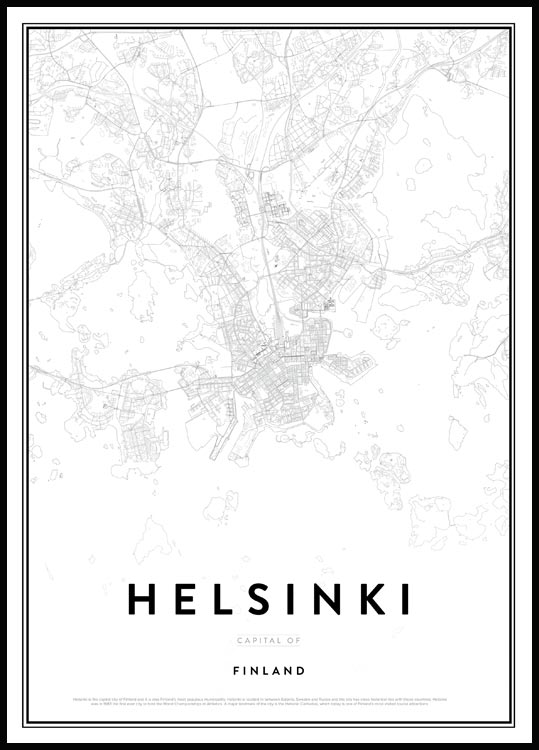 Map of Helsinki Plakat