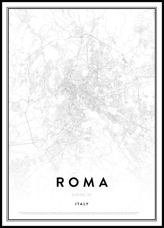 Map of Roma Plakat
