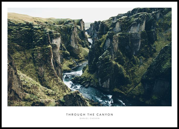 Through the Canyon Plakat