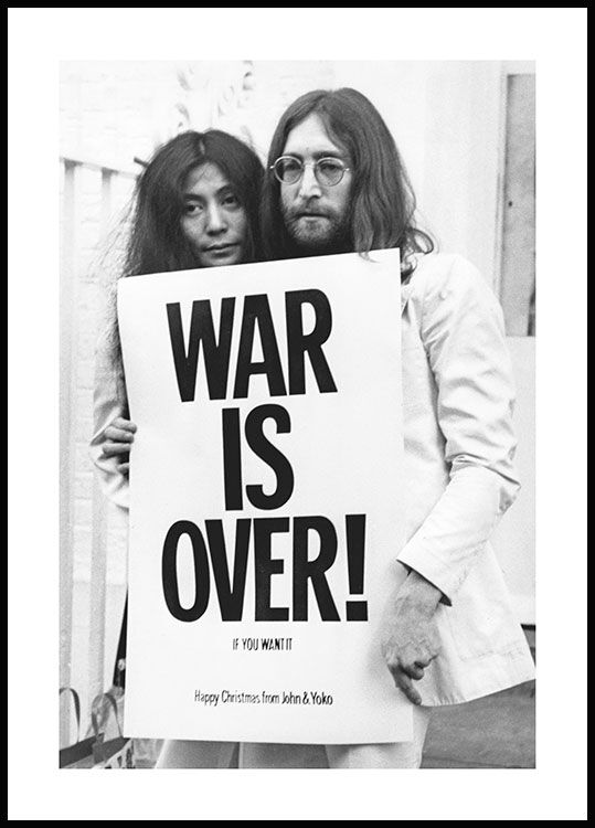 War is Over John Lennon Plakat